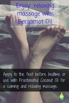 Enjoy relaxing massage with Bergamot Oil. elementaoils.com