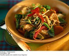 Détail de l'image 110500: Nouilles sautée à la volaille et aux légumes