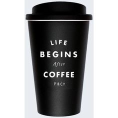 Life Begins After Coffee Mug ($17) ❤ liked on Polyvore featuring extra and fillers