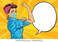 We Can Do It Pop art strong girl.female wearing protective Medical mask for prevent Pop Art Wallpaper, Flower Background Wallpaper, Pop Art Drawing, Pop Art Girl, Pop Art Illustration, Car Drawings, Artist Art, Collage Art, Illustrations Posters