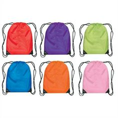 Nylon Backpacks - Colorful backpacks are perfect for storing school to home literacy kits!