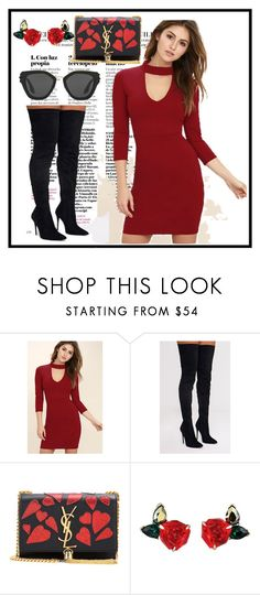 """Untitled #135"" by bosniamode ❤ liked on Polyvore featuring LULUS, Yves Saint Laurent and Prada"