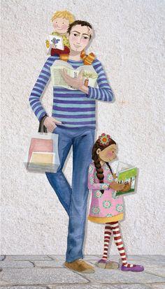 Parents are essential to encourage reading / Los padres son fundamentales para difundir la lectura (ilustración de Mónica Carretero)