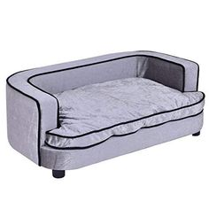 Giantex Pet Sofa Orthopedic Lounge Sofa Bed Puppy Cat Sleeping Home Comfortable Couch Pet Bed with Removable Cushion for Large Dogs, Gray Sofa Bed For Kids, Couch Pet Bed, Sofa Beds, Indestructable Dog Bed, Comfortable Couch, Couch Cushions, Sofa Styling, Beds For Sale, Lounge Sofa