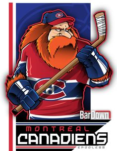 Our good friend #EPoole88 (Eric Poole) is getting ready for the upcoming season with cartoon renderings of each team. This is the Montréal Canadiens. #TSN #BarDown