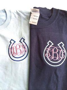 Long Sleeve Horse Shoe Monogram Shirt by DesignsbyADF on Etsy https://www.etsy.com/listing/211100590/long-sleeve-horse-shoe-monogram-shirt