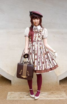 """victorianme: """" My outfit for AM's Tea Party! I dressed up in Angelic Pretty (of course >"""
