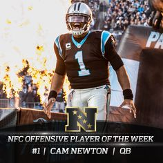 Cam Newton has been named the NFC Offensive Player of the Week for the 5th time this season!
