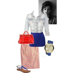Red and Blue Always Good Colors - Polyvore