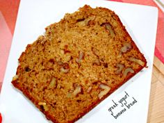 Put protein in your banana bread by mixing in Greek yogurt -Momo