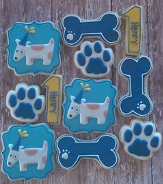 1st Birthday Dog Cookies