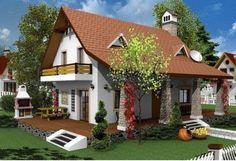 Casa cu mansarda model traditional