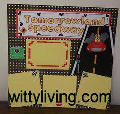 Disney World Scrapbook Layout Tomorrowland Speedway