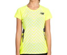 New Balance Women's Elite Racer Tee - Yellow