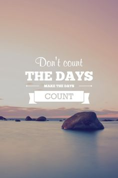 As we celebrate a day where everyone counts down to the day I encourage you to start living each day where you make every day COUNT! #stopcounting #startdoing #AHealthierLifestyle