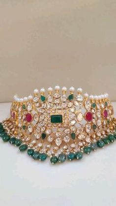 Ruby Jewelry, Chanel Jewelry, Jewelry Sets, Jewelry Stores, Gold Jewelry, Beaded Jewelry, Jewelery, Gold Jewellery Design, Designer Jewellery