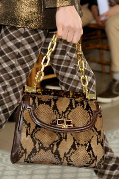 From @toryburch's F/W 2012 collection....hope the bag isn't too heavy!