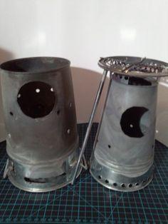 カクレグイ:■自作ストーブ ~煙突型ホボウストーブ1・2~