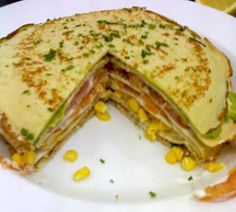 .COCINA CHILENA: PANQUEQUES CON VERDURAS ....... TORTA DE PANQUEQUES