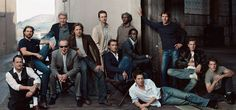april 2003: tom hanks, tom cruise, harrison ford, jack nicholson, brad pitt, edward norton, jude law, samuel l. jackson, don cheadle, hugh grant, dennis quaid, ewan mcgregor, and matt damon, photographed by annie leibovitz.