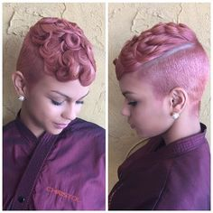 Salon Christol @salonchristol #bestof2015 #rose...Instagram photo | Websta (Webstagram) Beautiful Hair Color, Pink Hair, Hair Inspo, Hair Inspiration, Character Inspiration, Mohawks, Short Cuts, Short Pixie, Short Haircuts
