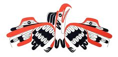 Thunderbird Art Thompson (Nuu-chah-nulth) Tribal Wolf Tattoo, Wolf Tattoos, Arte Tribal, Tribal Art, Native Canadian, Native American Wisdom, Haida Art, Inuit Art, Tlingit