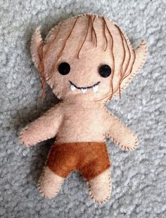 Hey, I found this really awesome Etsy listing at https://www.etsy.com/listing/173796804/gollum-lord-of-the-rings-felt-plushie