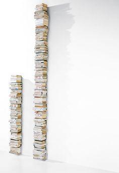 Open Vertical Wall-Mounted Metal Bookcase WALL PTOLOMEO by Opinion Ciatti | Design Bruno Rainaldi