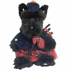 Scottie Dog Tartan Piper stuffed toy Scottish Highland Terrier: Amazon.co.uk: Kitchen & Home