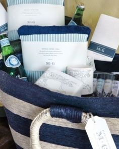 How to create welcoming gift baskets for out of town guests with items they may need #23eleven