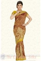 Border Net Cut work Embroidery with Double Blouse Bridal Silk Saree PSS228 http://www.shopcost.in/bridal+silk+saree