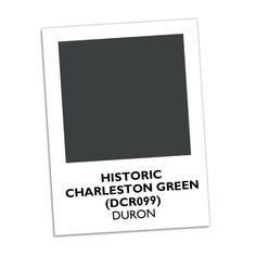 Charleston Green    Local legend says that Charleston Green, a green so deep it looks black, came about after the Civil War when Union troops sent buckets of black paint to help rebuild the decimated town. Colorful Charleston residents couldn't bear the thought of their Holy City being painted government-issued black, so they tinted the paint with yellow and green, creating Charleston's signature greenish-black accent color.