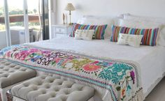 Boho Style Furniture And Home Decor Ideas – Vintage Decor Mexican Bedroom Decor, Mexican Home Decor, Hacienda Decor, Home And Deco, Guest Bedrooms, Dream Rooms, My New Room, Vintage Decor, Decoration