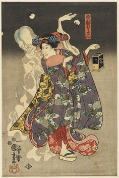 ashmolean Japanese ghosts & demons - Oiwa the Lantern ghost (Utagawa Kuniyoshi 1797-1861)- one of the inspirations for the new solo I am working on