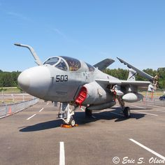 EA-6 BuNo 161884 USN VAQ 134 ''The Garudas'' USS George Bush at the Museum of Flight in Seattle, WA. Their newest addition.