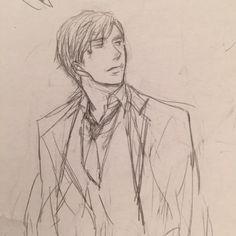 Saezuru Tori wa Habatakanai by Yoneda Kou - Yashiro - Draft not used for the manga - From @saezuru_comic Twitter