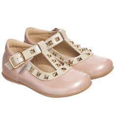 Step2wo Girls Pink Patent T-Bar Shoes at Childrensalon.com