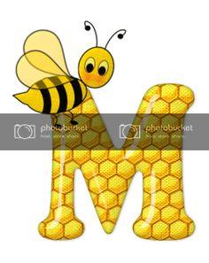 Alfabeto de abeja sobre letras de panal. - Oh my Alfabetos! Blogger Templates, Tigger, Disney Characters, Fictional Characters, Alphabet, Honeycomb, Bees, Pictures, Lyrics