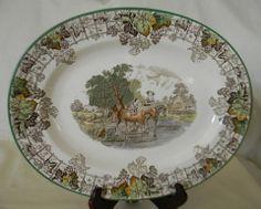 Vintage Spode Byron Brown Transferware Platter Children Dog Horse – Nancy's Daily Dish