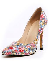 Multi Color Floral Print PU Leather Pretty Pointy Toe Heels. Save Up to 70% Off on elite trend products at Milano using Coupon and Promo Codes.