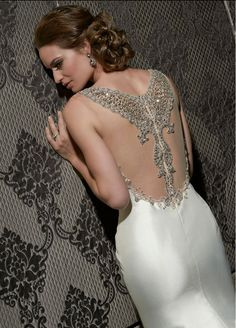 Impression wedding dress with a stunning back. Style #10291. http://www.impressionbridal.com/collections.php?cat=22