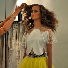 CHRISTOS COSTARELLOS SS15Backstage from our #SpringSummer15 #pretaporter collection lookbook shooting! #comingsoon #madeingreece #upcomingcollection Christos Costarellos, Spring Summer, Summer 2014, Backstage, Ready To Wear, How To Make, How To Wear, House Styles, Blouse