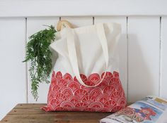 Organic cotton 'Shells' Tote Bag by LisaDurrantPrints on Etsy https://www.etsy.com/nz/listing/247800500/organic-cotton-shells-tote-bag