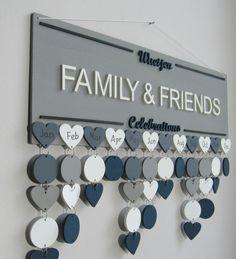 Family Calendar, Kids Calendar, Family Birthdays, Gifts For Family, Birthday Calendar Reminder, Birthday Organizer, Family Birthday Board, Reminder Board, Wooden Calendar