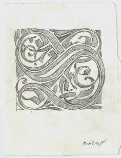 Variaciones sobre una S capitular (Solothurn, Zentralbibliothek, Cod. S 458, f. 89r. ) 2