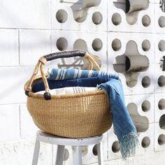 Bolga Shopper Baskets | Fair Trade | Wild Poppy Goods
