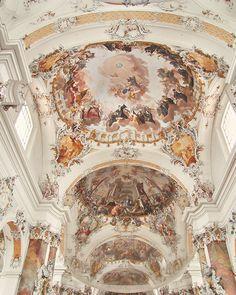 Peach and Ivory Decor - 8x10 Art Photo - Pink, Rococo German, Bavaria, Fairytale, Interior, Ottobeuren, Art History, Pastels, Romantic. $19.00, via Etsy.