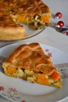 Tourte végétale de Noël {potimarron et châtaignes}  pour un #Noël gourmand, sain et sans cholestérol #vegan