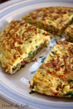 PECADO DA GULA: Omelete de legumes caprichada!