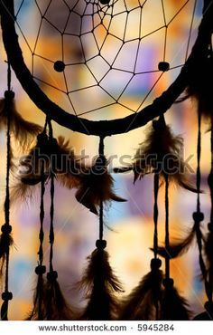 Native American Dream Catcher | Native American Dream Catcher In Silhouette Stock Photo 5945284 ...